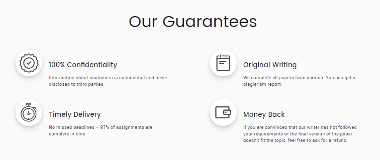 GradeMiners.com Guarantees